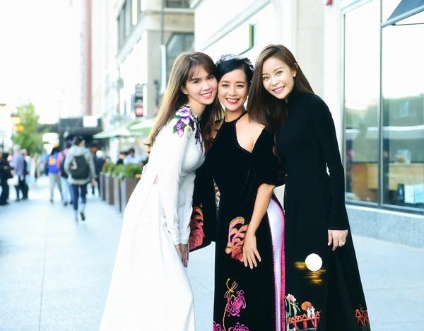 Hoa hậu Nguyễn Trần Hải Dương khoe sắc cùng NSƯT Chiều Xuân - ảnh 1