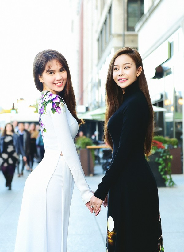 Hoa hậu Nguyễn Trần Hải Dương khoe sắc cùng NSƯT Chiều Xuân - ảnh 3