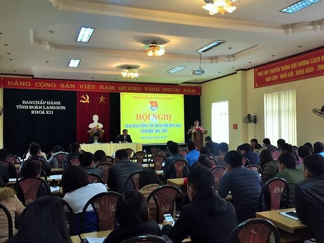 Hội nghị giao ban công tác Đoàn và phong trào thanh thiếu nhi trường học  - ảnh 1