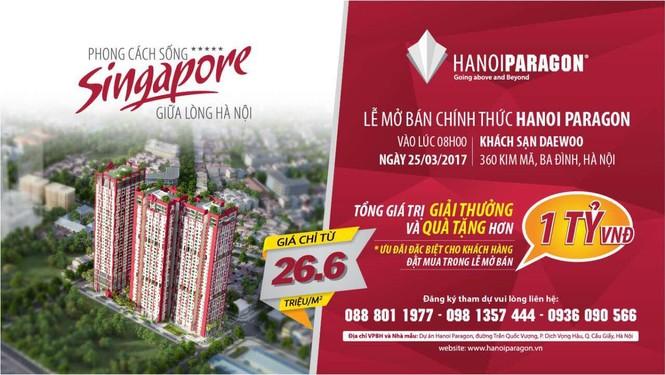 Hanoi Paragon chính thức mở bán với tổng giải thưởng hơn 1 tỷ đồng - ảnh 1