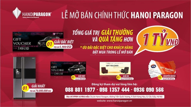 Hanoi Paragon chính thức mở bán với tổng giải thưởng hơn 1 tỷ đồng - ảnh 2