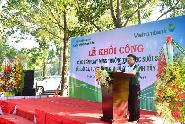 Vietcombank tài trợ xây dựng trường tiểu học tại tỉnh Tây Ninh - ảnh 1