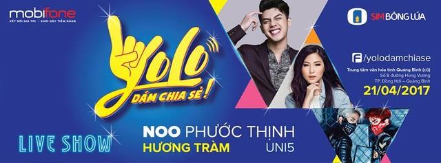"""Noo Phước Thịnh cùng dàn sao hot """"đại náo"""" đêm nhạc tại Quảng Bình  - ảnh 1"""