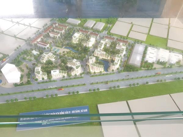 Khởi công xây dựng khu dịch vụ, nhà ở công nhân KCN Đồng Văn IV - ảnh 1