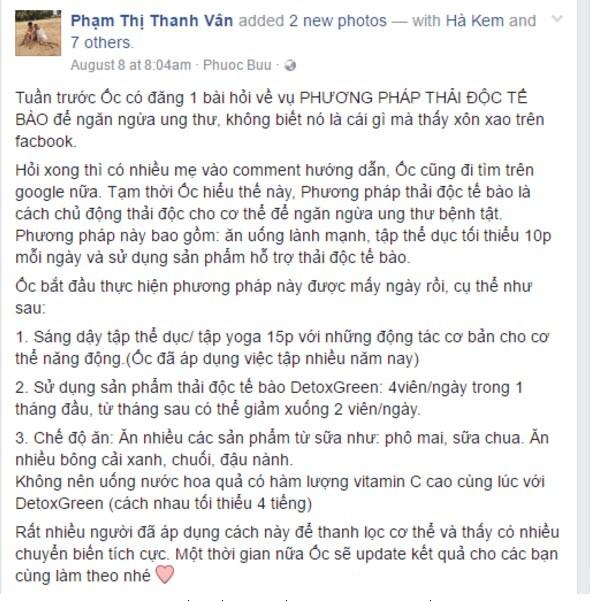 Bí quyết ngăn ngừa ung bướu của Ốc Thanh Vân cho cả gia đình - ảnh 2