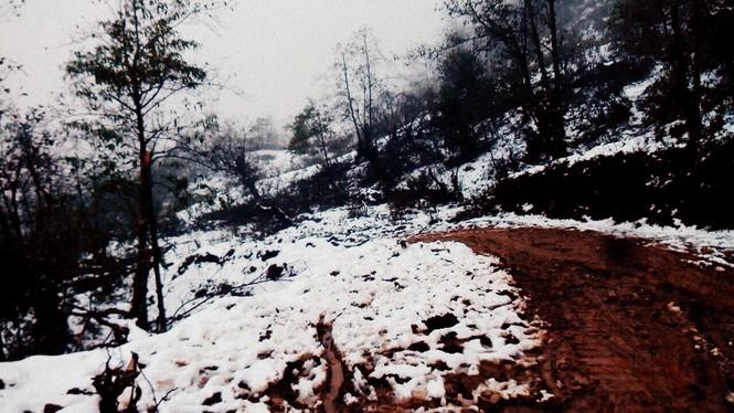 """Dân """"phượt"""" vượt đường lầy lội lên Y Tý ngắm tuyết - ảnh 3"""