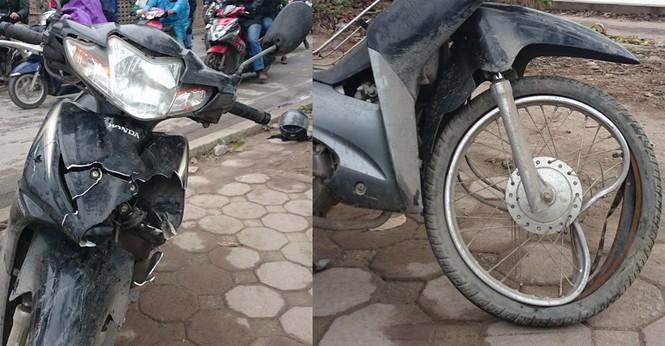 Hai xe máy đấu đầu kinh hoàng, một người nguy kịch - ảnh 1