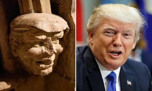 Đầu tượng 700 năm tuổi giống hệt Donald Trump - ảnh 1