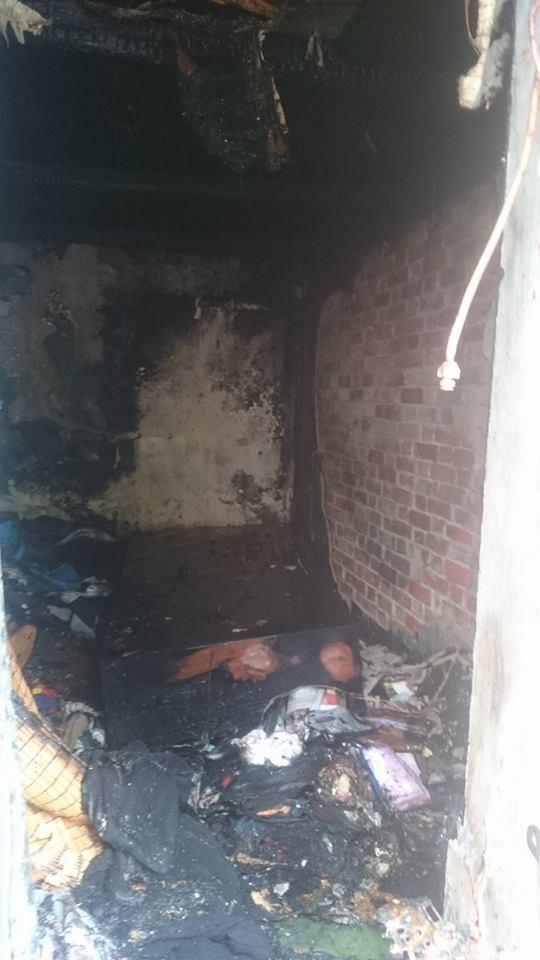 Cháy rụi căn nhà vắng chủ trên đường Lê Duẩn - ảnh 1