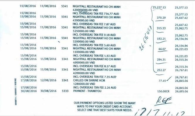 Vụ quẹt thẻ mất gần 700 triệu đồng: Luật sư làm việc với công an - ảnh 1