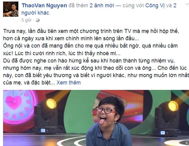 MC Thảo Vân lần đầu tiên chia sẻ về bố chồng - ảnh 1