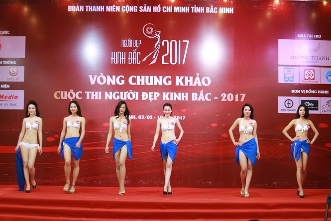 """Ngắm dàn thí sinh """"Người đẹp Kinh Bắc"""" trong trang phục bikini - ảnh 1"""