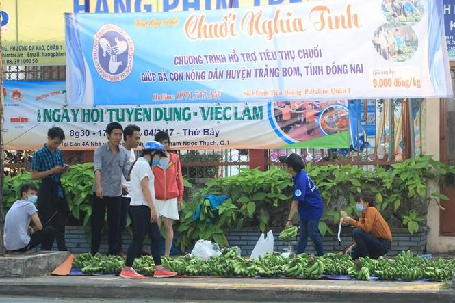 """Đông đảo sinh viên ra tay """"giải cứu chuối"""" giúp người dân Trảng Bom - ảnh 1"""