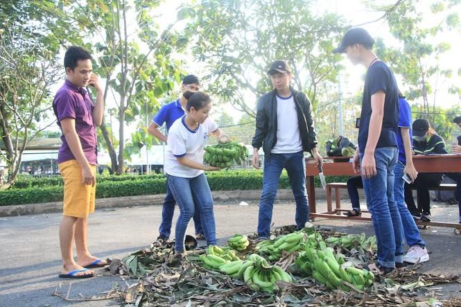 """Đông đảo sinh viên ra tay """"giải cứu chuối"""" giúp người dân Trảng Bom - ảnh 4"""