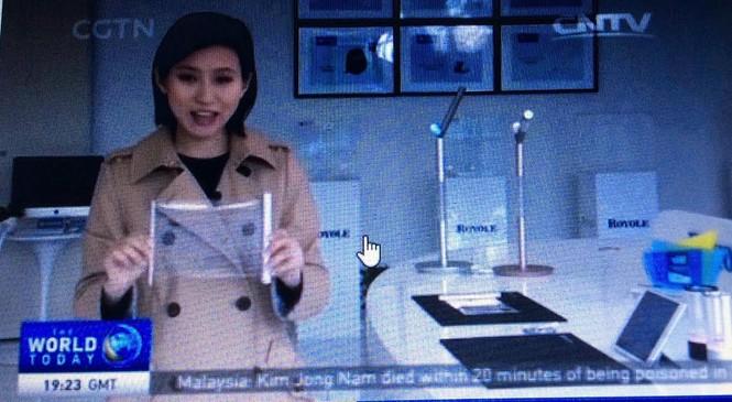 Trung Quốc ra mắt điện thoại bẻ cong, bàn phím mỏng như tờ giấy - ảnh 1