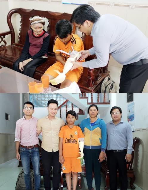 """ĐH Duy Tân tặng cánh tay """"Robot"""" cho học sinh khuyết tật - ảnh 1"""