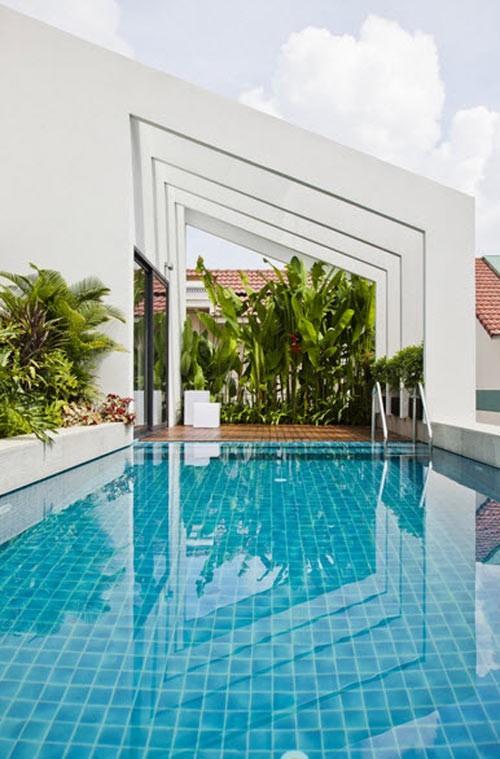 Bể bơi trên nóc nhà 3 tầng của nhà giàu Sài Gòn - ảnh 3