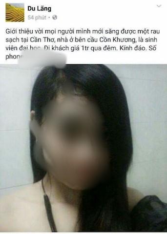 Nữ sinh viên bị đưa ảnh lên mạng rao bán dâm - ảnh 1