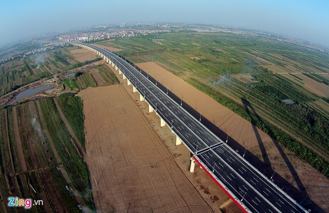 [ẢNH] Cầu Nhật Tân, đường Võ Nguyên Giáp trước ngày thông xe - ảnh 11