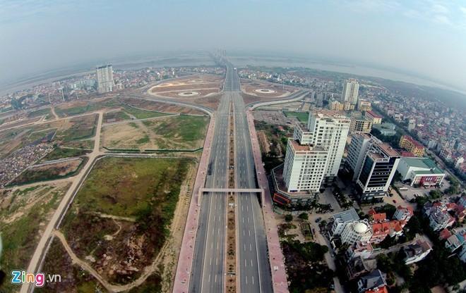 [ẢNH] Cầu Nhật Tân, đường Võ Nguyên Giáp trước ngày thông xe - ảnh 2