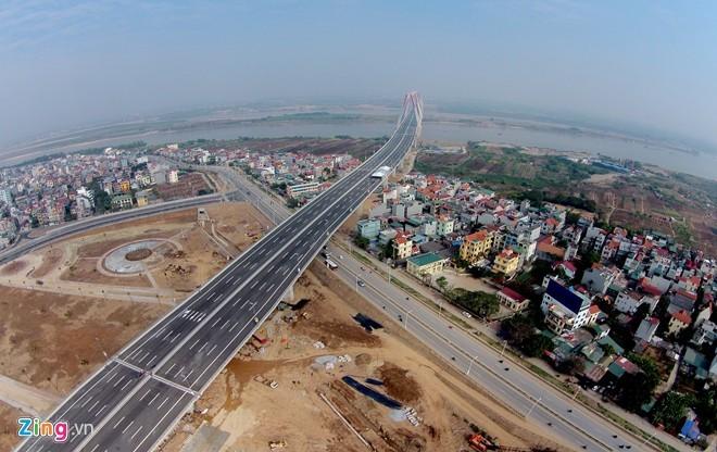 [ẢNH] Cầu Nhật Tân, đường Võ Nguyên Giáp trước ngày thông xe - ảnh 3