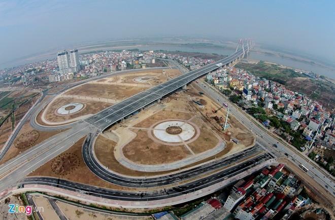 [ẢNH] Cầu Nhật Tân, đường Võ Nguyên Giáp trước ngày thông xe - ảnh 4