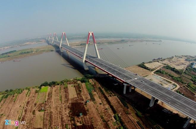 [ẢNH] Cầu Nhật Tân, đường Võ Nguyên Giáp trước ngày thông xe - ảnh 5