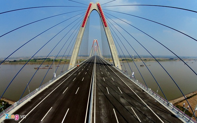 [ẢNH] Cầu Nhật Tân, đường Võ Nguyên Giáp trước ngày thông xe - ảnh 6
