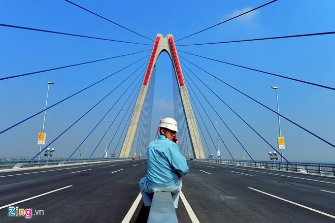 [ẢNH] Cầu Nhật Tân, đường Võ Nguyên Giáp trước ngày thông xe - ảnh 8