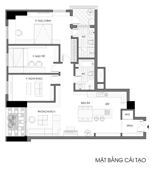 Mãn nhãn thiết kế căn hộ 130 m2 cho gia đình trẻ - ảnh 14