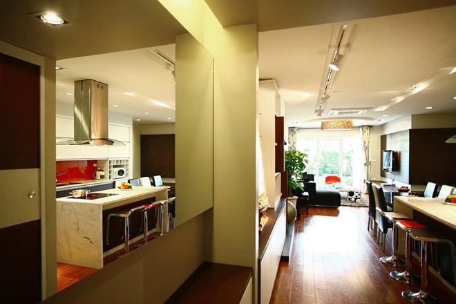 Mãn nhãn thiết kế căn hộ 130 m2 cho gia đình trẻ - ảnh 1
