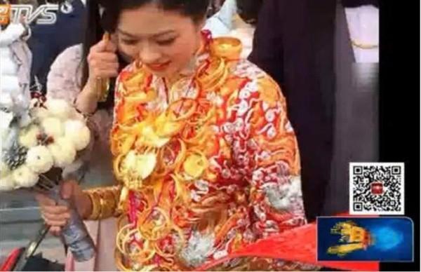 Cô dâu đeo 5kg vàng trong ngày cưới - ảnh 6