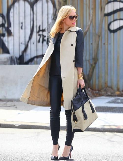 Mặc áo măng tô đơn giản mà đẹp như fashionista - ảnh 9