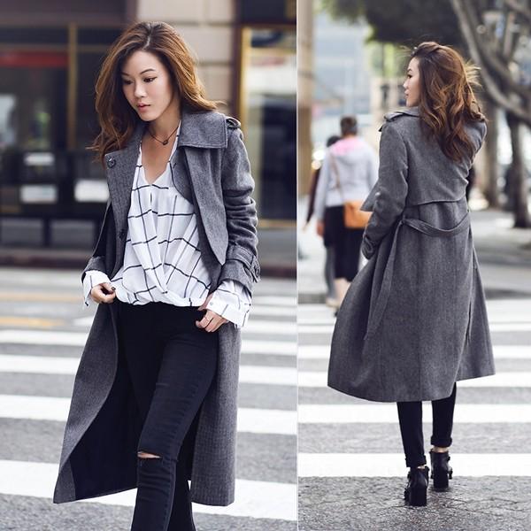 Mặc áo măng tô đơn giản mà đẹp như fashionista - ảnh 12
