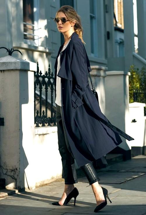 Mặc áo măng tô đơn giản mà đẹp như fashionista - ảnh 6
