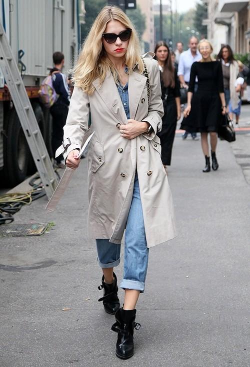 Mặc áo măng tô đơn giản mà đẹp như fashionista - ảnh 7