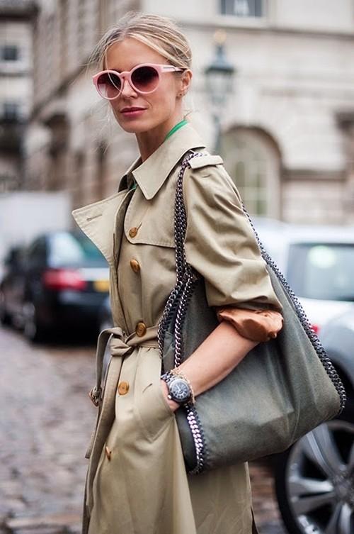 Mặc áo măng tô đơn giản mà đẹp như fashionista - ảnh 8