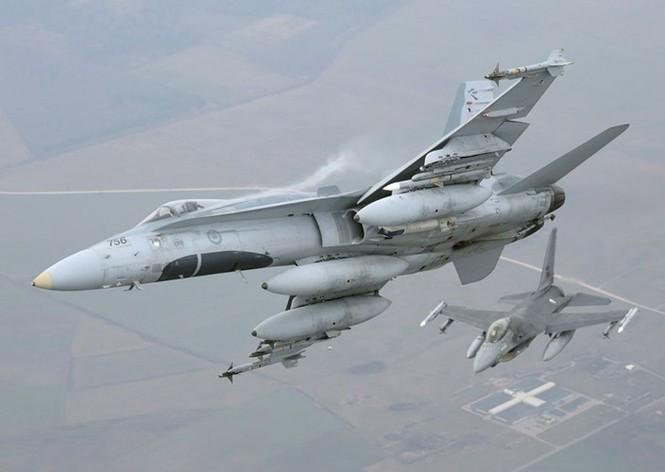 Nhìn gần máy bay chiến đấu NATO tuần tiễu khu vực Baltic - ảnh 1