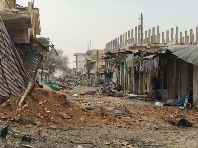 Thảm thương thị trấn Syria trong vòng vây phiến quân IS - ảnh 1