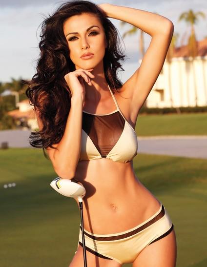 Dàn mỹ nhân hoàn vũ 'thiêu đốt mọi ánh nhìn' trên sân golf - ảnh 12