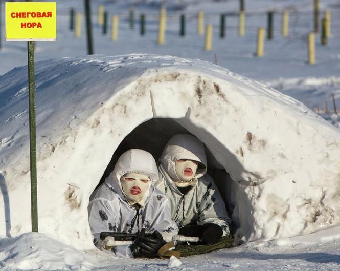 Xem Lữ đoàn Bắc Cực Nga khổ luyện trong tuyết lạnh - ảnh 1