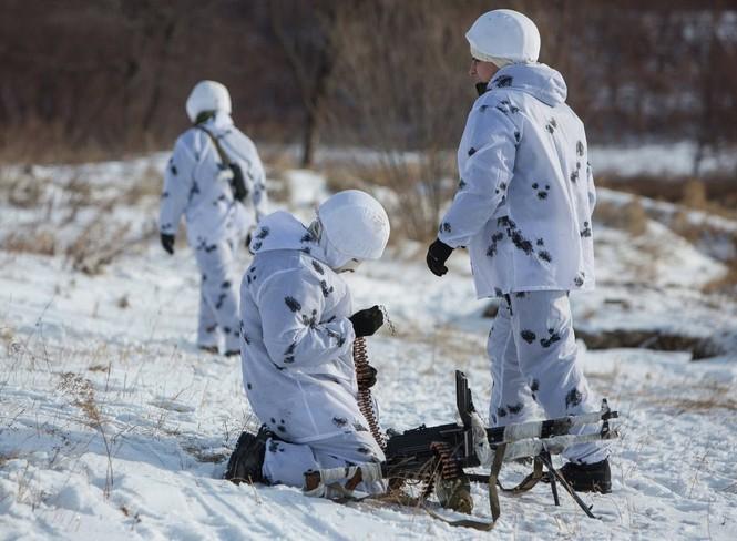 Xem Lữ đoàn Bắc Cực Nga khổ luyện trong tuyết lạnh - ảnh 2