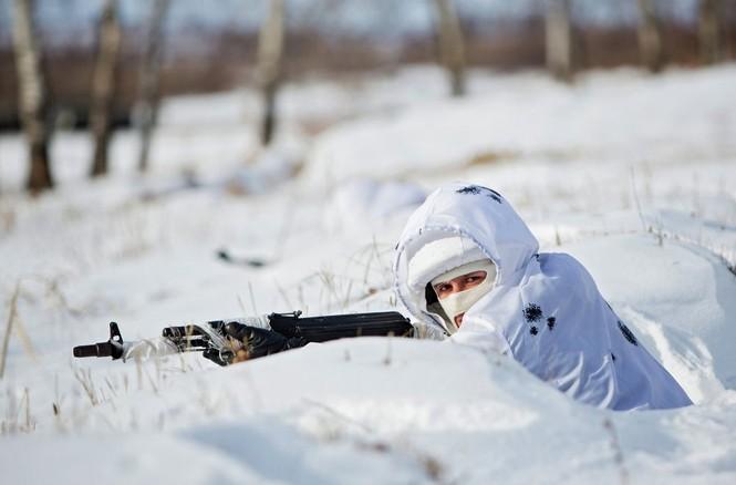 Xem Lữ đoàn Bắc Cực Nga khổ luyện trong tuyết lạnh - ảnh 4