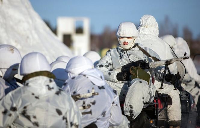 Xem Lữ đoàn Bắc Cực Nga khổ luyện trong tuyết lạnh - ảnh 7