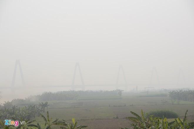 Cầu dây văng dài nhất Việt Nam mù sương giữa trưa - ảnh 4