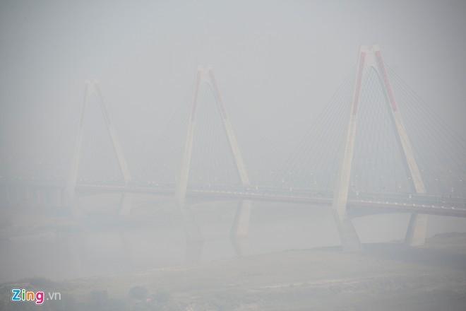 Cầu dây văng dài nhất Việt Nam mù sương giữa trưa - ảnh 5
