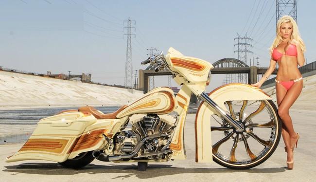 Vũ điều đường cong nóng bỏng bên Harley - ảnh 13
