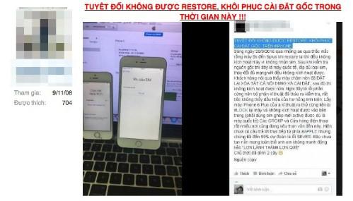 Nhiều iPhone hàng xách tay ở Việt Nam bị biến thành 'cục gạch' - ảnh 1