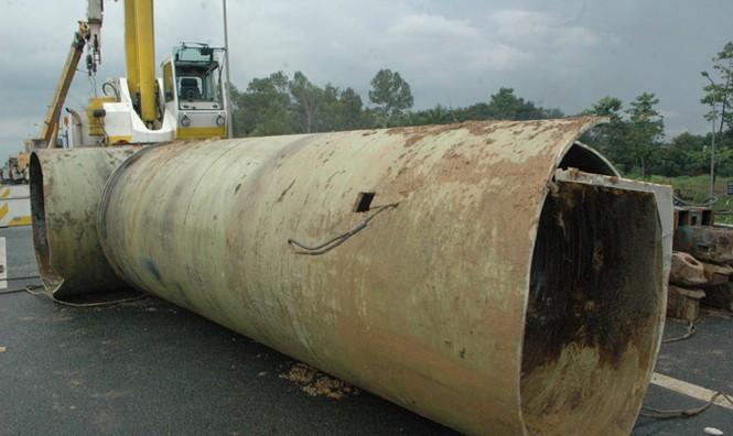 Lần thứ 20 đường ống nước sông Đà gặp sự cố - ảnh 1