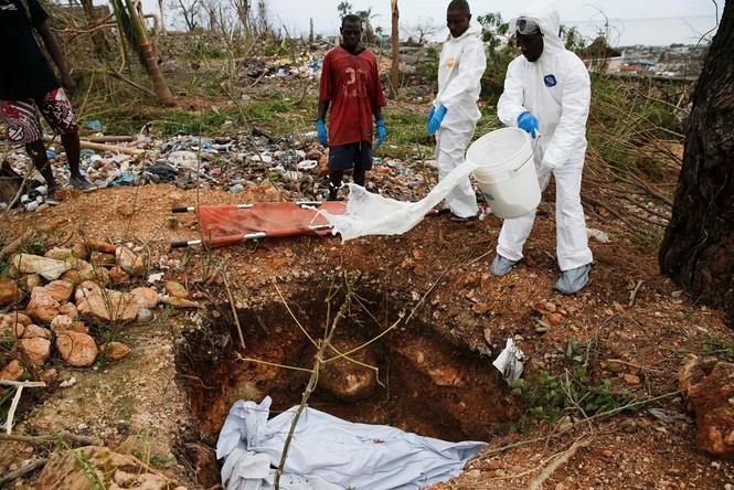 Cảnh tan hoang như thời chiến ở Haiti sau bão Matthew - ảnh 6